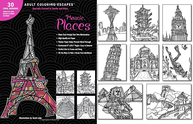 Relax & Enjoy These New Travel Coloring Books