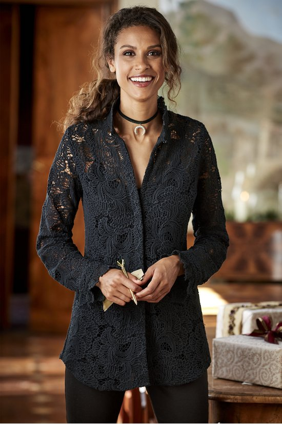 tunic - francesca shirt and cami in black