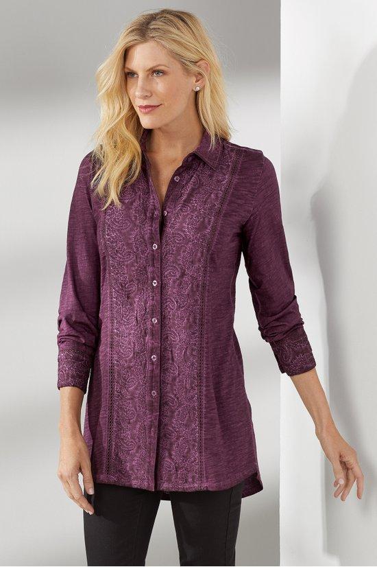 tunic - nalia tunic in sunset purple